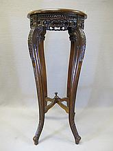 Old French mahogany pedestal