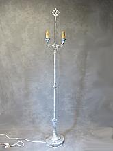 Art Deco bronze & iron floor lamp