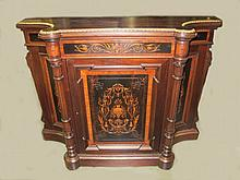 Antique Italian inlaid & bronze cabinet