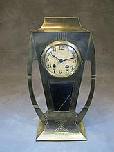 Art Nouveau metal clock