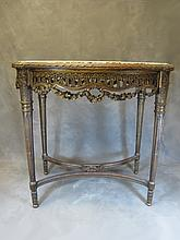 Antique French Louis XVI carved side table