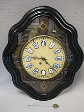 Old French alabaster & bronze inlaid clock