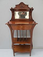Old French mahogany cabinet with mirror
