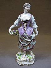 Antique Meissen porcelain statue