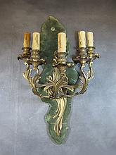 Antique French 5 lights bronze wall sconce