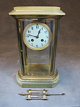 French Japy Freres bronze & glass clock