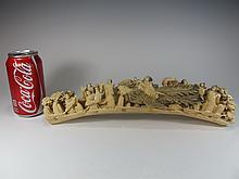 Antique Japanese carved tusk sculpture
