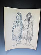 Francisco ZUÑIGA (1912-1998) Costa Rican artist drawing