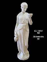 Large lifesize antique 19th C European marble sculpture