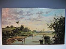 Signed A. MAGRIÑAT, Cuban artist painting, circa 1890