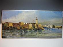 Emilio RIVERO MERLIN (1890-c.1977) Cuban artist painting