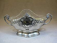 German Kaiser silverplate & glass centerpiece