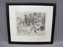 Andrew RUSH (1931-?) engraving, signed