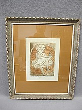 Irving AMEN (1918-?) engraving, signed