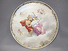Antique Vienna large porcelain plate