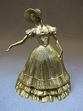 Old French bronze lady statue