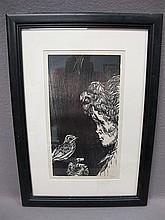 Mervin JULES (1912-1994) engraving, signed