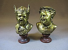 Antique pair of French busts, Susse Fres