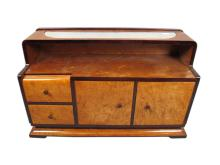 Art Deco French root veneer cabinet