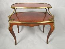 Antique French Louis XV style bronze mounted buffet table