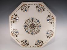 Islamic inlaid marble top from Agra, India
