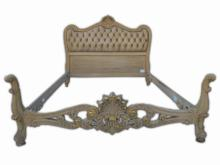 French Louis XV patinated walnut full bed