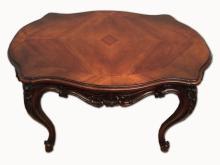 French Louis XV style mahogany center table