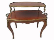 Antique French Louis XV bronze mounted buffet table