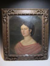 Late 18th C Spanish oil on canvas portrait painting