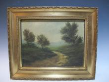 Antique oil on canvas European painting, signed