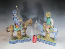 Talavera. Spain ?Don Quixote & Sancho? ceramic statues