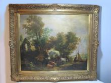 Signed G. VINCENT oil on canvas lamdscape painting