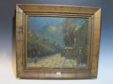 Signed Gaston GALLEN antique oil on canvas painting