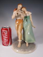 Antique Italian Patarino faience figurine