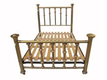 Antique English bronze full bed frame