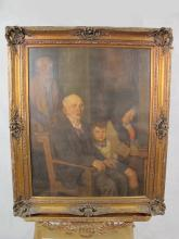Signed C. ESCRIBA, 1928 Argentinian painting