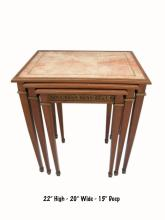 French Louis XVI style three in one tables
