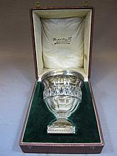 Antique Vals lambert glass and silver cup