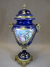 Antique French Sevres style porcelain urn