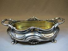 Victor Saglier, Paris, late of 19th C silverplate centerpiece