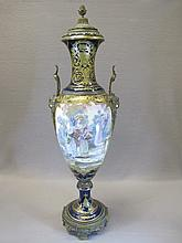 19th C French Sevres porcelain urn