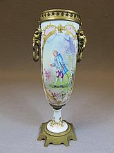 French Sevres bronze & porcelain urn