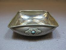 Old 800 Silver & turquoise European tray