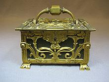 Antique Art Nouveau European bronze box