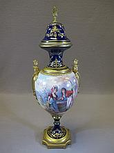 Antique French Sevres porcelain urn