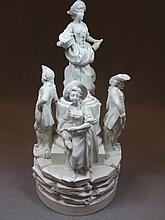 Old European bisque group statue