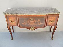 Old French Louis XV inlaid chest