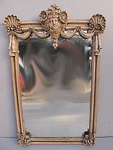 Old French Louis XV patinated mirror