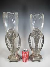 German WMF Art Nouveau pair of vases