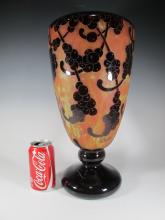 Antique French Charder glass vase